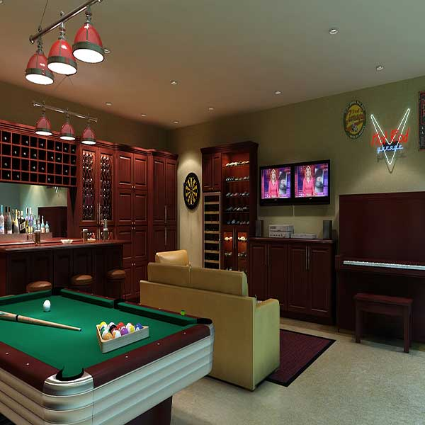 There are man caves, and then there are MAN CAVES